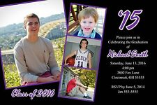 Graduation Year Filmstrip Photo Invitation Announcement 10 Invitations Any Color