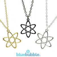 Bluebubble CRAZY SCIENCE Atom Necklace Cute Kitsch Geek Symbol Nerd Funky Fun UK