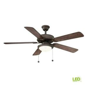 Hampton Bay Trice 52 in. LED Espresso Bronze Ceiling Fan