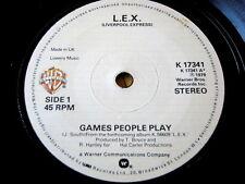 "L.E.X. - GAMES PEOPLE PLAY  7"" VINYL"