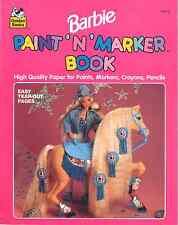 VINTAGE 1990 BARBIE PAINT ´N´ MARKER BOOK, BY GOLDEN