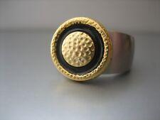 """edler Knopfaufsatz - """"Gold gehämmert"""" - kompatibel mit Charlotte 21 Ring"""