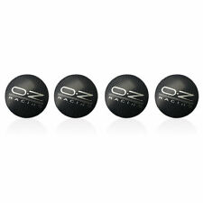 4PCS 56mm Carbon Fiber OZ Aluminum Car Wheel Center Hub Cap Decoration Stickers