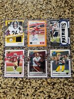 2020 NFL Donruss Patch Auto Optic Rated Rookie Lot 6 Cards