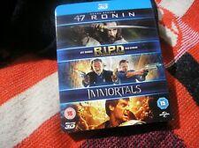 47 Ronin RIPD Immortals (Blu-ray Region B] Keanu Reeves