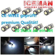 10x Xenon Weiß LED T10 CANBUS für VW Caddy III IV Kombi Kasten Polo 6N1 6N2 6R