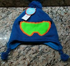 Winter Hat Mitten Set Toddler Boy's Blue Ski Mask WonderKids OSFM- NEW