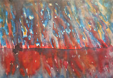 1992 Watercolor abstract painting signed