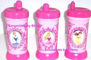 Disney Store Sippy Cup Winnie Pooh Eeyore Minnie Mouse Belle Aurora Cinderella