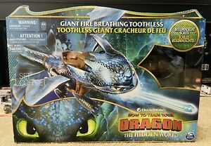 """Dreamworks How To Train Your Dragon Giant Fire Breathing 20"""" Toothless Dragon"""