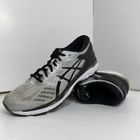 Asics Gel Kayano 24 Men's Size US 11.5 Athletic Running Shoes Silver/Black T749N