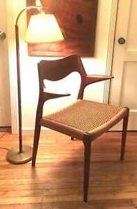 Niels Moller Denmark Teak Arm Chair 55, 1960s Mid Century Danish Modern
