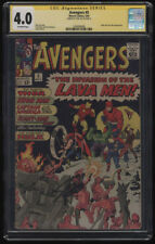 Avengers #5 CGC 4.0 OW Pages SS Signature Signed Stan Lee Hulk Lava Men