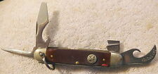 Vintage 4-blade ULSTER USA BOY SCOUT Pocket Knife w/raised BSA logo,for repair