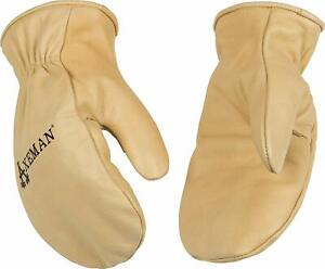 Kinco 1930-L Men's Axeman Grain Cowhide Leather Chopper Mitten, Large