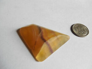 38mm tumbled NATURAL RAINBOW FLUORITE from ARGENTINA 20.18g HEALING; ORGONE; #5