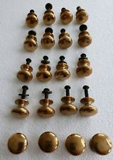 20 MATCHING ANTIQUE HEAVY SOLID BRASS KNOBS PULLS
