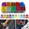 80x 12V Standard Blade Car Fuses 3 5 7.5 10 15 20 40 A Assorted Set + Puller ANG