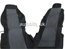 NEW PREMIUM TAILORED GREY-BLACK FABRIC SEAT COVERS FOR SCANIA R G P SERIE