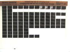 Honda VT600C Shadow VLX 1995 1996 1997 VT600 Parts List Catalog Microfiche a882