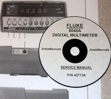 FLUKE SERVICE MANUAL for the  8040A DIGITAL  MULTIMETER
