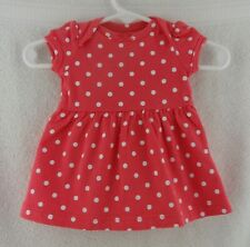 Doll Clothes Carter's Polka-dot Infant Dress Newborn Outfit w/Diaper Cover