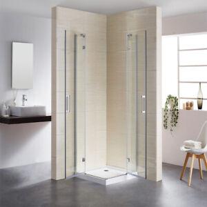 Eckdusche mit Drehtür Duschkabine 90x90 Eckeinstieg Schwingtür Duschabtrennung