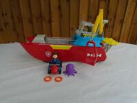 Paw Patrol Sea Patroller Boat Playset Lights & Sounds Plus Ryder & Quad Bike
