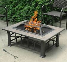 New listing Outdoor Fire Pit Patio Heater Yard Deck Garden Wood Firewood Poker Cover Table