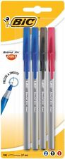 BIC Round Stic Exact 4-pack Precision Smooth Ballpoint Pens 3 Colors