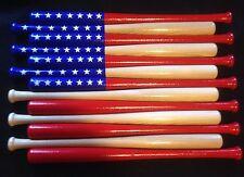 Custom baseball bat American flag (Natural Finish)