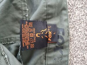 Fox fishing trousers size large.