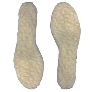 Warm Thermal Fur Fleece Insoles Mens Ladies Size 3-11 Shoe Trainer Comfort Soft