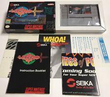 Legend Seika (Super Nintendo SNES) CIB 100% Complete Near Mint Rare Condition