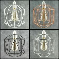 INDUSTRIAL STYLE METAL WIRE CAGE RETRO CEILING PENDANT LAMP/LIGHT SHADE EASY FIT