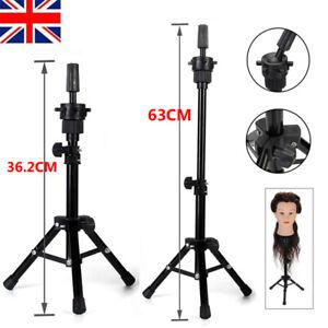 Adjustable Wig Head Stand Wig Holder Head Tripod Hairdressing Training Barber UK