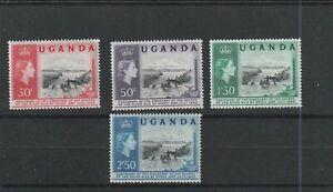 UGANDA. QE. SG95-8. MINT NEVER HINGED.