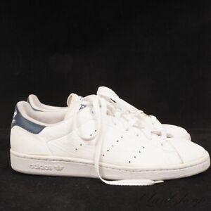ORIGINAL Vintage 1993 Adidas White Navy Blue Stan Smith Tennis Sneakers 9.5 RARE