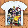 Anime Fairy Tail Natsu/Hayppy/Lucy Casual Tee Unisex Tops T-shirt Cosplay #KT4