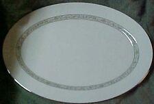 """Lenox Springdale Platinum 17"""" Serving Turkey Platter Large"""