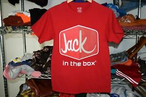 Jack in the Box t shirt Men's Small Red