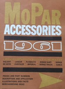1961 ACCESSORIES CATALOG VALIANT PLYMOUTH CHRYSLER DODGE LANCER IMPERIAL DESOTO