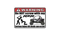 WARNING: Funny Decal/Sticker for RZR lovers XP 1000 Car/Truck/Home/ATV/UTV (3)