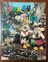 BUNNY TALES Vintage 1979 Children's Easter book Poetry Live Rabbit photos