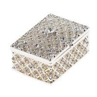 Luxury Stunning Rhinestone Trinkets Box Jewelry Ring Holder Storage Showcase