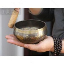 Copper Buddha Singing Bowl Alms Bowl Yoga Meditation Sound Bowl With Hand Stick
