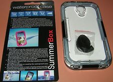SummerBox Waterproof case for Samsung Galaxy S4, transparent and Black, NEW