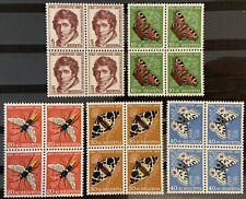 Série PRO JUVENTUTE 1955 : Blocs de 4 MNH** , Mi 618-622, Cote 45€