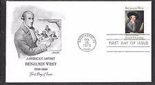 U.S. # 1553 BENJAMIN WEST   FDC  MNH