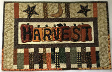 Wall Hanging Table Topper 26 x 17 Harvest Fall appliqued patchwork Quilted Q17